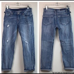 Rock & Republic Indee distressed straight jeans 2